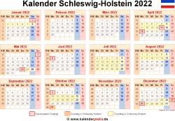 Kalender 2022 Schleswig-Holstein