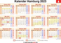 Kalender 2023 Hamburg