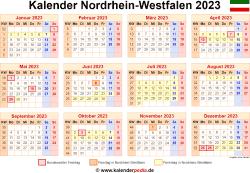 Kalender 2023 NRW