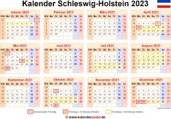 Kalender 2023 Schleswig-Holstein