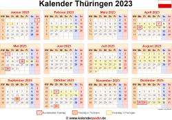 Kalender 2023 Thüringen