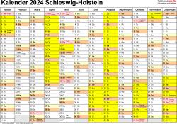 Kalender 2024 Schleswig-Holstein