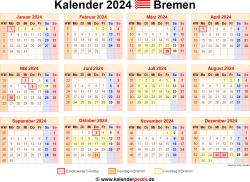 Kalender 2024 Bremen