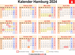 Kalender 2024 Hamburg