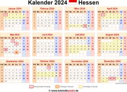 Kalender 2024 Hessen