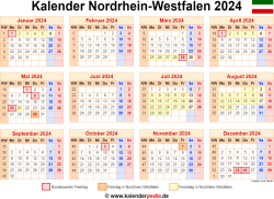 Kalender 2024 NRW
