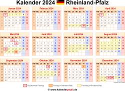 Kalender 2024 Rheinland-Pfalz