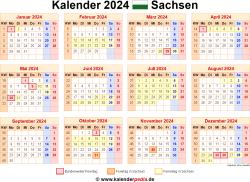 Kalender 2024 Sachsen