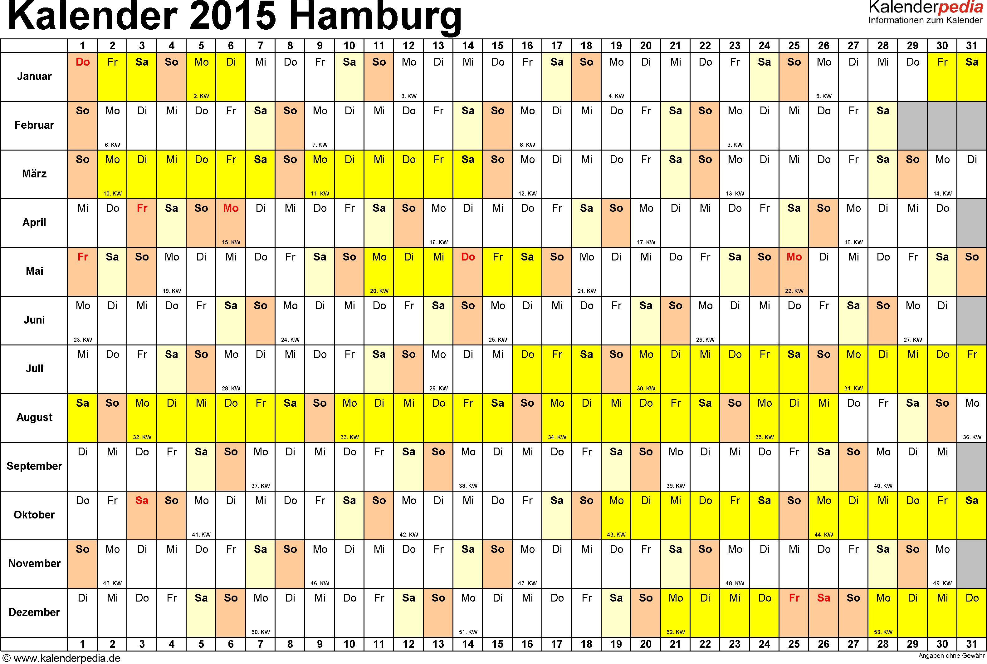 kalender 2015 hamburg ferien feiertage excel vorlagen. Black Bedroom Furniture Sets. Home Design Ideas