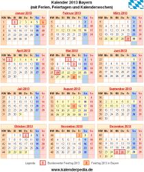 Kalender 2013 Bayern