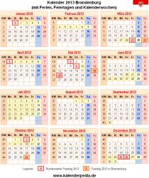 Kalender 2013 Brandenburg