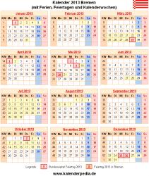Kalender 2013 Bremen