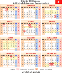 Kalender 2013 Hamburg