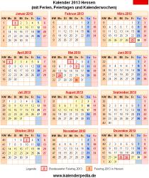 Kalender 2013 Hessen