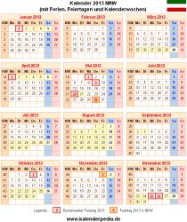 Kalender 2013 NRW