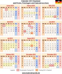 Kalender 2013 Saarland