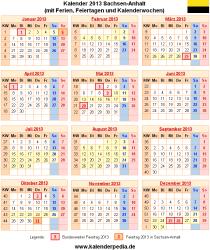 Kalender 2013 Sachsen-Anhalt