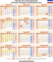 Kalender 2013 Schleswig-Holstein