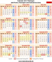 Kalender 2013 Thüringen