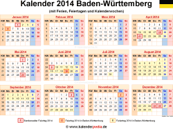 kalender 2014 baden w rttemberg ferien feiertage excel vorlagen. Black Bedroom Furniture Sets. Home Design Ideas