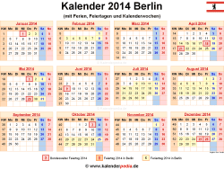 Kalender 2014 Berlin