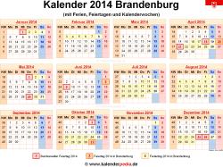 Kalender 2014 Brandenburg