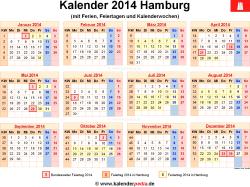 Kalender 2014 Hamburg