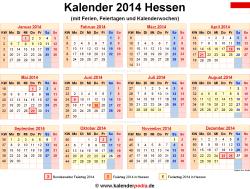 Kalender 2014 Hessen