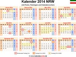 Kalender 2014 NRW