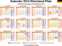 Kalender 2014 Rheinland-Pfalz