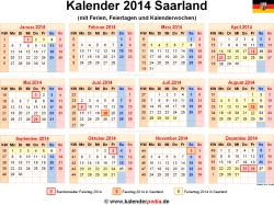 Kalender 2014 Saarland