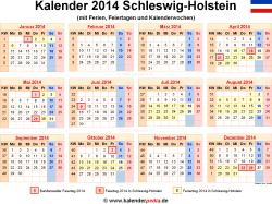 Kalender 2014 Schleswig-Holstein