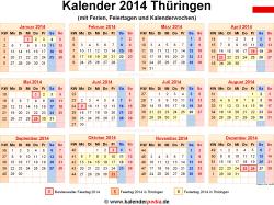 Kalender 2014 Thüringen