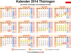 Kalender 2014 Th�ringen