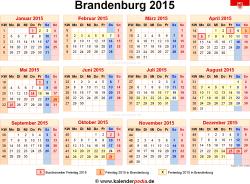 Kalender 2015 Brandenburg