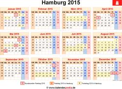 Kalender 2015 Hamburg