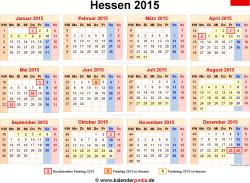 Kalender 2015 Hessen