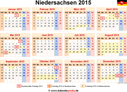 kalender 2015 niedersachsen ferien feiertage excel vorlagen. Black Bedroom Furniture Sets. Home Design Ideas