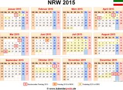 Kalender 2015 NRW