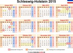 Kalender 2015 Schleswig-Holstein