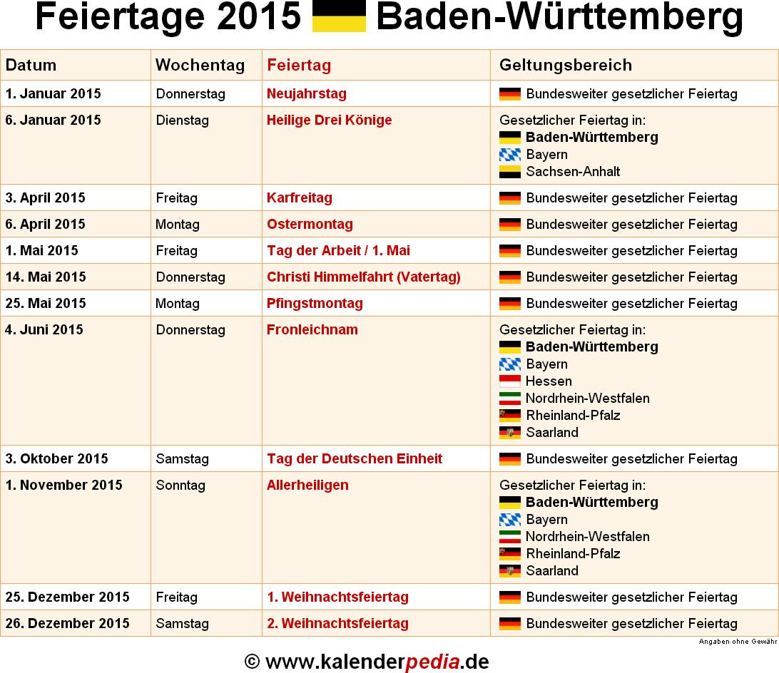 Aschermittwoch Feiertag Baden Württemberg