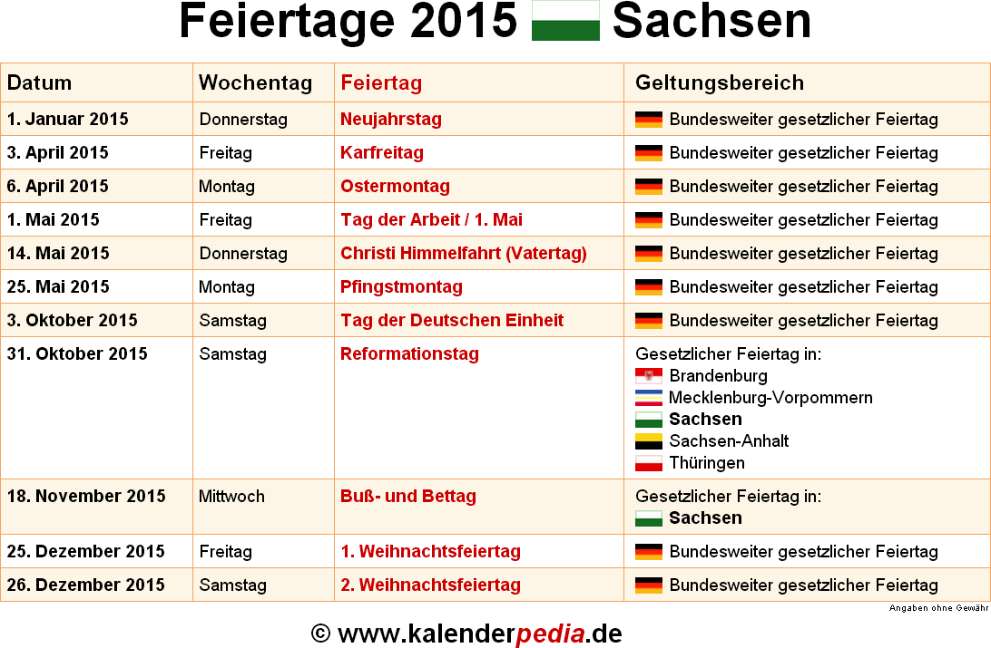 Feiertag Sachsen Anhalt