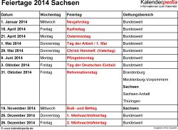 1948 x 1426 png 28kB, Feiertage 2014 Sachsen als Vorlagen für Excel ...