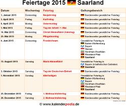 Feiertag Saarland