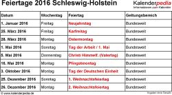 Pfingstmontag Schleswig Holstein