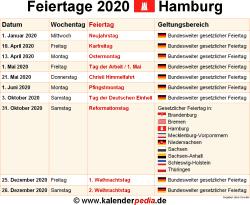 Feiertage Hamburg 2019 2020 2021 Mit Druckvorlagen
