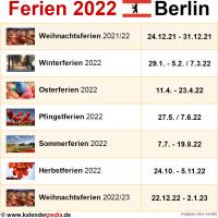 Ferien 2022 Berlin