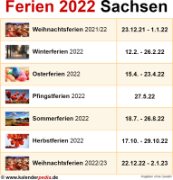 Ferien 2022 Sachsen