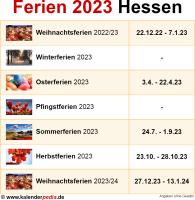 Ferien 2023 Hessen