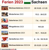 Ferien 2023 Sachsen